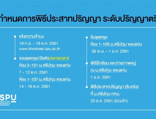 พิธีประสาทปริญญา มหาวิทยาลัยศรีปทุม ประจำปีการศึกษา 2560