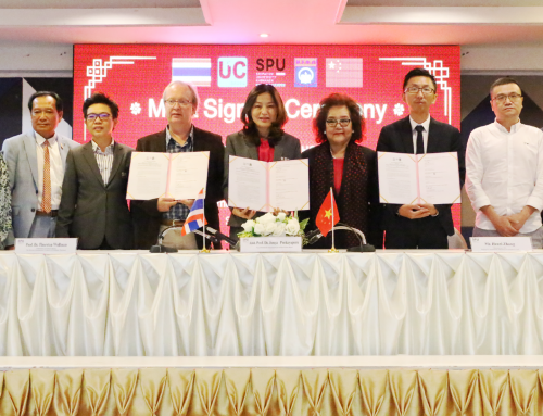 MOA มหาวิทยาลัยศรีปทุม ขอนแก่น Beijing UC International Education Investment Co.,Ltd และ The British International School of Northern Thailand