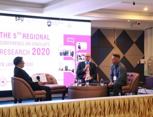 """ม.ศรีปทุม วิทยาเขตขอนแก่น เปิดเวทีแลกเปลี่ยนนำเสนอความรู้และผลงานวิจัย ในงานประชุมเชิงวิชาการผลงานวิจัยบัณฑิตศึกษาระดับภูมิภาค ครั้งที่ 5 The 5th Regional Conference on Graduate Research 2020Theme """"Sustainable Business Growth, Challenges, Measures and Solutions in Global Scenario"""""""